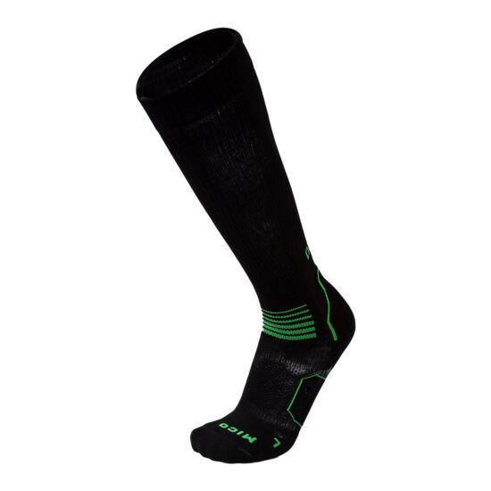 MICO OXI-Jet Medium kompressziós futózokni (fekete-zöld)