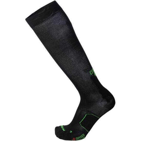 MICO OXI-Jet Light kompressziós futózokni fekete-zöld