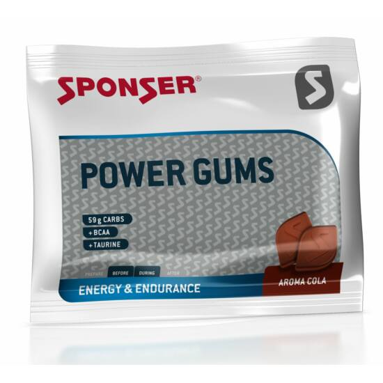 Sponser Power Gums gumicukor koffeinmentes 75 g, Cola
